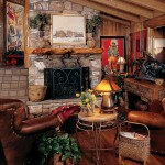 The stone fireplace provides the perfect focal point in the great room.