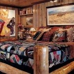 A custom log bed and cowboy-chic accessories give this guest room a little kick.