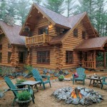 A log home crafted from red pine was a natural fit for Don Ritter and Jeff Kleven's wooded building site near Wisconsin's Black River Falls.