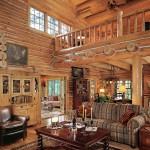 Not your typical Northwoods log home, the interior's design theme is Old-World Scandinavian, an eclectic mixture of antiques, family heirlooms, casual furnishings and hand-forged iron and mica fixtures.