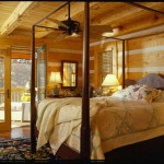 The original plan for the home included two bedrooms and a bathroom on the main floor of the cabin. Dan and M.J. decided to combine the two rooms into one master suite, which includes a spacious bathroom and walk-in closet.