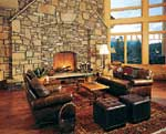 Colorado Log Home Great Room