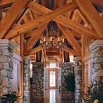 Adirondack Timber Home Entry