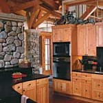 Adirondack Timber Home Kitchen