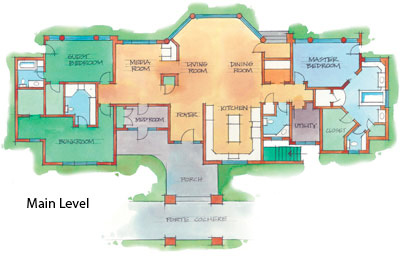 Log luxury lodge floor plan