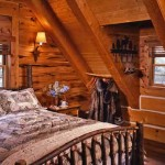 Master bedroom with handcrafted wooden beams