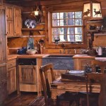Rustic kitchen with hidden modern amenities