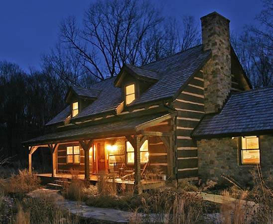 History repeats craftsman style log home in pennsylvania for Craftsman log homes