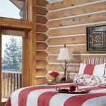 Cozy master bedroom. Combining rustic and modern