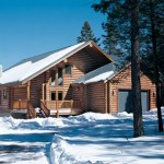 New Mexico home, exterior in the snow