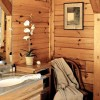 Log Home Bathroom Interior