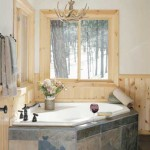 Finely decorated master bathroom