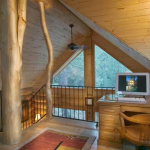 Additional view of the log cabin loft
