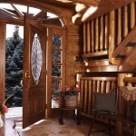 Garland Log Home Entryway.