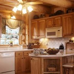 Garland Log Home Kitchen.