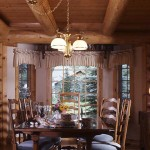 Garland Log Home Dining Area.
