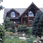 Exterior of the Garland Log Home.
