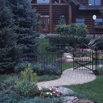 The Gated Entryway to the Garland Log Home.