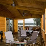 Log home deck porch