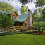 Log Cabin Home and Landscape