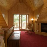 Classic Log Cabin Bedroom