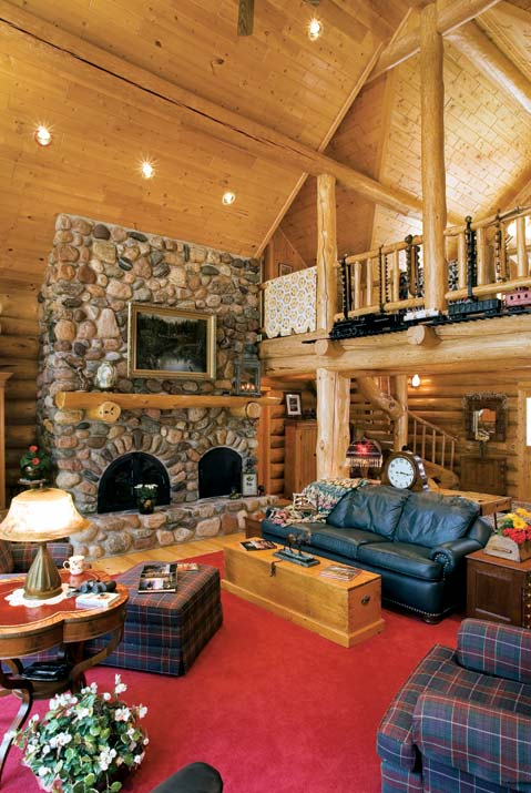 Planning an old fashioned log home log home living for Www loghome com