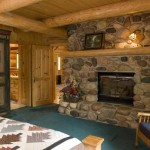 Classic Log Cabin Master Bedroom