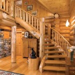 Classic Log Cabin Stairway