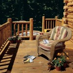 Wicker Chair on Cabin Porch