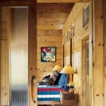 Earth-Friendly Log Home Bedroom