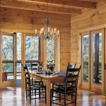 Earth-Friendly Log Home Dining Room