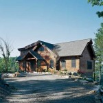 Earth-Friendly Log Home Exterior