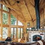 Earth-Friendly Log Home Great Room