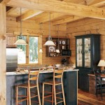 Earth-Friendly Log Home Kitchen