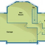 Earth-Friendly Log Home Lower Floor Plan