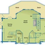 Earth-Friendly Log Home Main Floor Plan