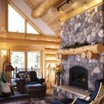 Hearth and Fireplace in the Log Home | Photo by James Ray Spahn