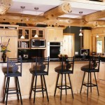 The Log Home's Modernized Kitchen