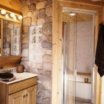 Large Stone Shower in Bathroom   Photo by James Ray Spahn
