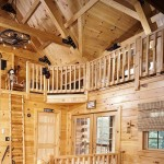Log Home Interior and Loft | Photo by James Ray Spahn