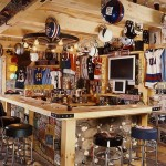 Sports Bar in the Log Home | Photo by James Ray Spahn