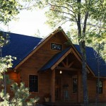 The gorgeous pine logs of this home are warm and inviting when summer calls the Seilers back to the lake.