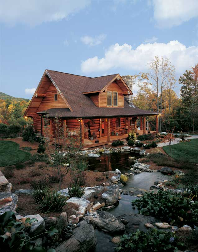 A log cabin in north carolina perfect for outdoor log for Craftsman style log homes