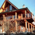 Eastern-styled log home exterior