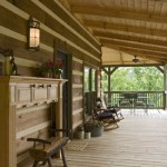 This additional view of the porch area sneaks a peek into the surrounding environment
