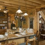 Everything has a place in this well organized rustic kitchen