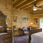 "Vintage style furniture adds an ""Old West"" feel to this bedroom"