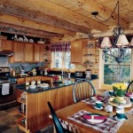 Adirondack Lakeside Log Home Kitchen