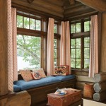A window seat in Lothrop Cabin provides the perfect setting for reading a book or watching the sunrise.
