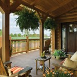 The patio area of the home provides a comfortable area to sit and enjoy the natural setting
